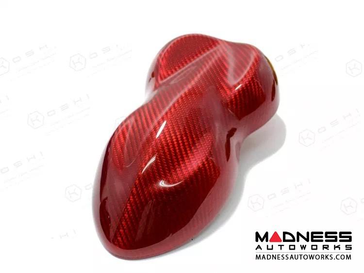 Alfa Romeo Giulia Partial Central Console Tunnel Trim - Carbon Fiber - Red Candy - RHD