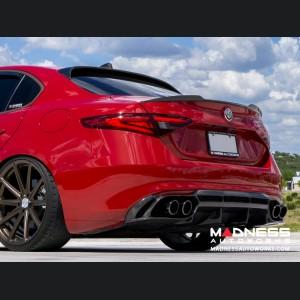 Alfa Romeo Giulia Diffuser - Carbon Fiber - Estremo - Gloss Finish - Base Model