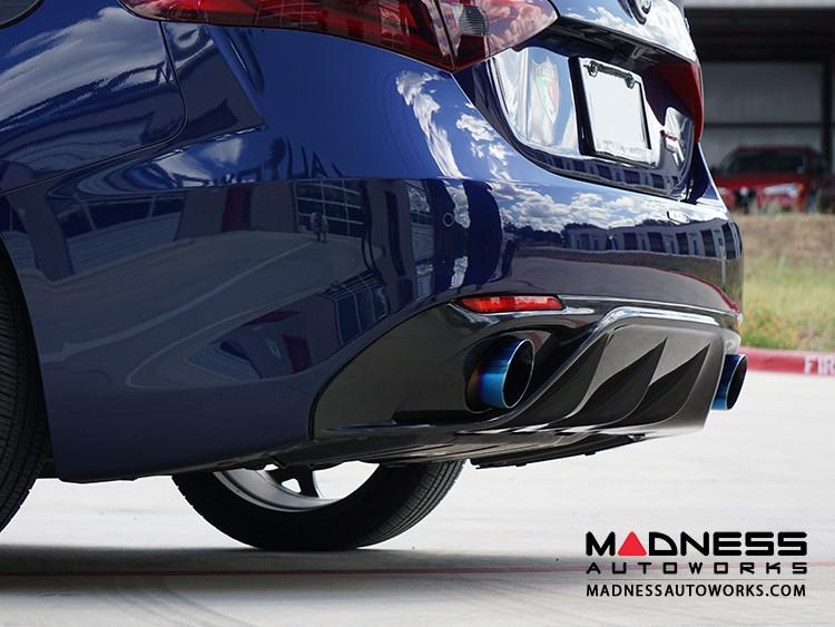 Alfa Romeo Giulia Diffuser - Carbon Fiber - Originale Lusso - Matte Finish