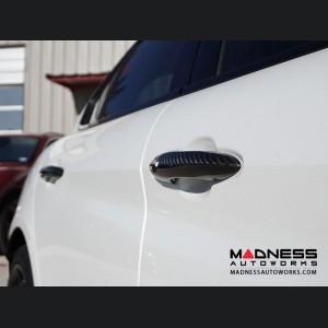 Alfa Romeo Giulia Exterior Door Handle Set - Carbon Fiber