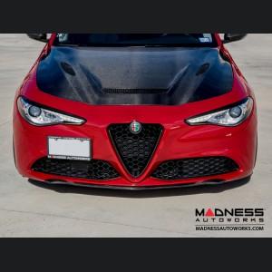 Alfa Romeo Giulia Front Spoiler - Carbon Fiber - Elegante