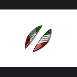 Alfa Romeo Stelvio Carbon Fiber Gear Knob Side Trim - Italian Flag