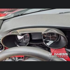 Alfa Romeo Giulia Instrument Cluster Cover - Carbon Fiber - Non-Quadrifoglio Model
