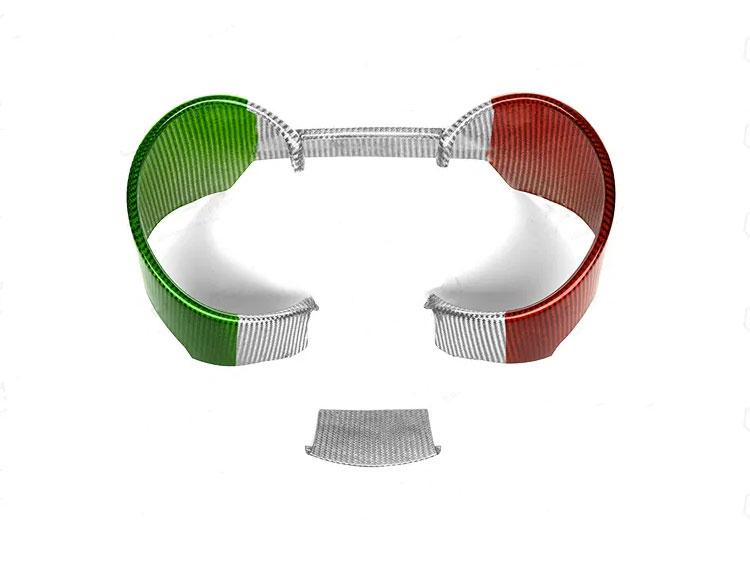Alfa Romeo Giulia Instrument Cluster Cover - Carbon Fiber - Quadrifoglio Model - Italian Flag