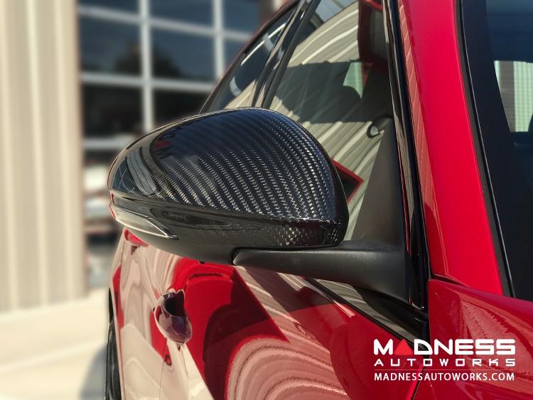 Alfa Romeo Giulia Mirror Covers - 100% Genuine Carbon Fiber - Matte Finish