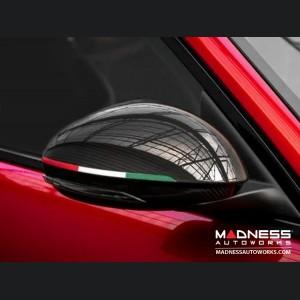 Alfa Romeo Stelvio Mirror Covers - Carbon Fiber - GTA Style