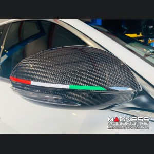 Alfa Romeo Giulia Mirror Covers - Carbon Fiber - GTA Style