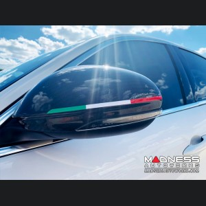 Alfa Romeo Giulia Mirror Covers - Carbon Fiber - Full Replacements - GTA Style