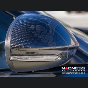 Alfa Romeo Stelvio Mirror Covers - Carbon Fiber w/ Alfa Romeo Logo