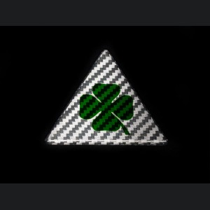 Alfa Romeo Giulia Quadrifoglio (QV) Badge - Carbon Fiber