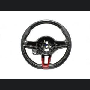 Alfa Romeo Giulia Steering Wheel Trim - QV Model - Side Covers - Carbon Fiber  - Italian Flag