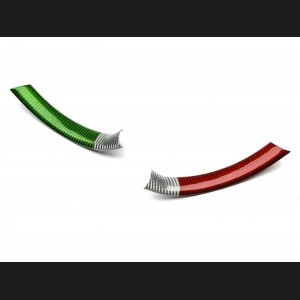Alfa Romeo Giulia Steering Wheel Trim - QV Model - Side Covers - Carbon Fiber  - Italian Flag