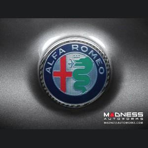 Alfa Romeo Giulia Carbon Fiber Rear Emblem Frame Trim