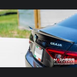 Alfa Romeo Giulia Trunk Spoiler - Carbon Fiber - QV Style - Matte Finish