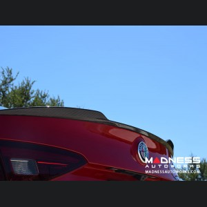 Alfa Romeo Giulia Trunk Spoiler - Quadrifoglio Style - 100% Carbon Fiber - Matte Finish