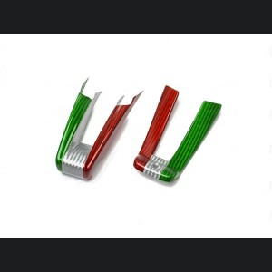 Alfa Romeo Stelvio Steering Wheel Trim - QV Model - 2 piece lower trim - Carbon Fiber - Italian Flag