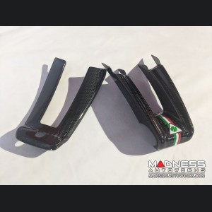 Alfa Romeo Giulia Steering Wheel Trim - QV Model - 2 piece lower trim - Carbon Fiber - QV Logo