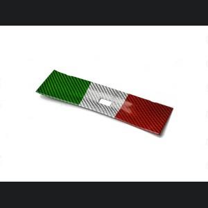 Alfa Romeo Giulia USB Trim Frame Cover - Carbon Fiber - Italian Flag