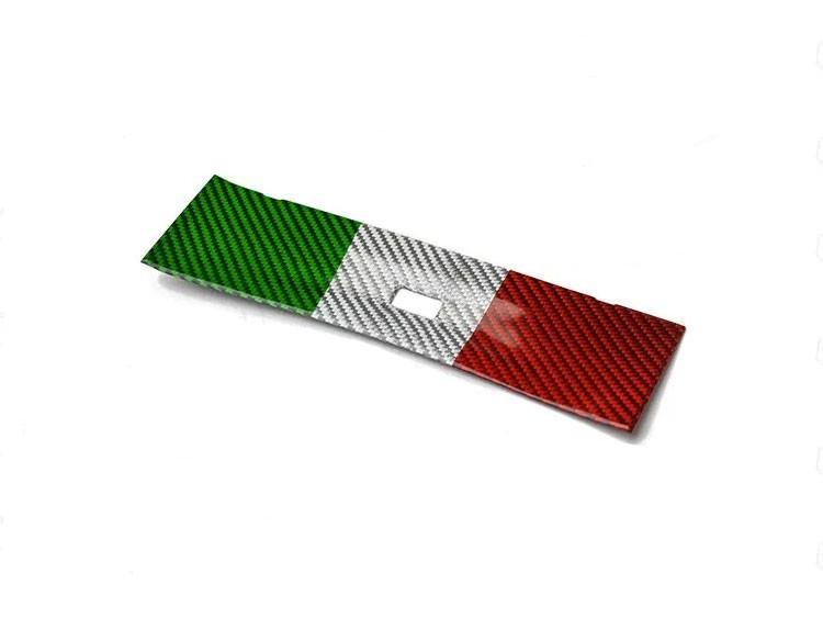 Alfa Romeo Giulia USB Trim Frame Cover - Carbon Fiber - RHD - Italian Flag