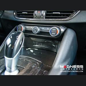 Alfa Romeo Giulia USB Trim Frame Cover - Carbon Fiber