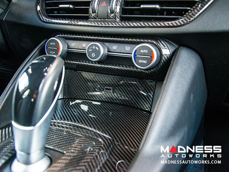 Alfa Romeo Giulia USB Trim Frame Cover - Carbon Fiber - RHD