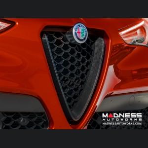 Alfa Romeo Giulia Front V Shield Grill Frame - Carbon Fiber - Feroce - Quadrifoglio