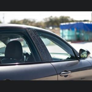 Alfa Romeo Giulia Exterior Door Pillars - Forged Carbon Fiber - Feroce