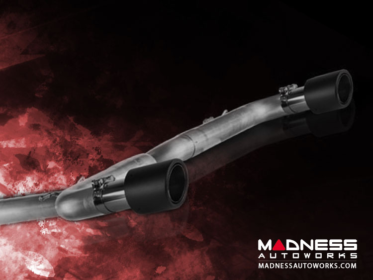 Alfa Romeo Giulia Performance Exhaust - 2.0L - MADNESS - Monza - Dual Side Exit - Carbon Fiber Tips