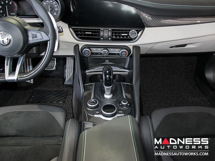 Alfa Romeo Giulia All Weather Floor Mats (set of 4) - Soft Touch PVC Loop - Black - RWD