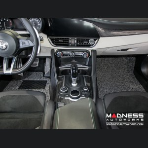 Alfa Romeo Giulia All Weather Floor Mats (set of 4) - Soft Touch PVC Loop - Grey/ Black - RWD