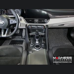 Alfa Romeo Giulia All Weather Floor Mats (set of 4) - Soft Touch PVC Loop - Grey/ Black - RWD