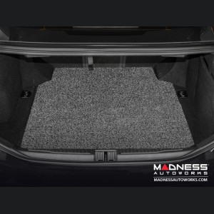 Alfa Romeo Giulia All Weather Cargo Mat - Soft Touch PVC Loop - Grey/ Black
