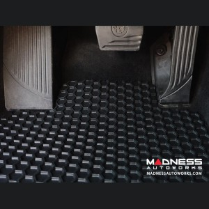 Alfa Romeo Giulia Floor Mat Set - All Weather Rubber Front/ Rear 4 Piece Set - Black (Q4/ AWD Model)
