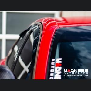 Alfa Romeo Giulia Side Window Air Deflectors - Front/ Rear 4 Piece Set - Full Size Deflectors