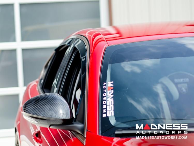 Alfa Romeo Giulia Side Window Air Deflectors - Front/ Rear 4 Piece Set - Gelly