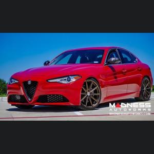 Alfa Romeo Giulia Mirror Covers - Carbon Fiber w/ Alfa Romeo Logo