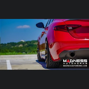 Alfa Romeo Giulia Performance Exhaust - 2.0L - MADNESS - Monza - Dual Side Exit - Slash Cut Stainless Steel Tips