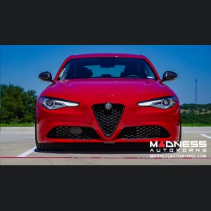 Alfa Romeo Giulia Front Emblem Frame Cover - Carbon Fiber