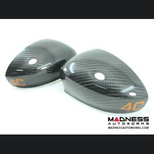 Alfa Romeo 4C Carbon Fiber Mirror Covers - 4C in Orange