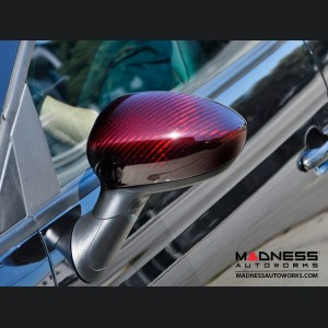Alfa Romeo 4C Carbon Fiber Mirror Covers - Red Candy
