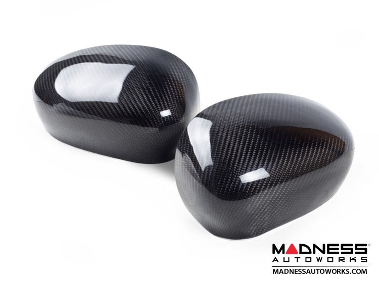 Alfa Romeo 4C Mirror Covers - Carbon Fiber - Caps - Feroce Carbon