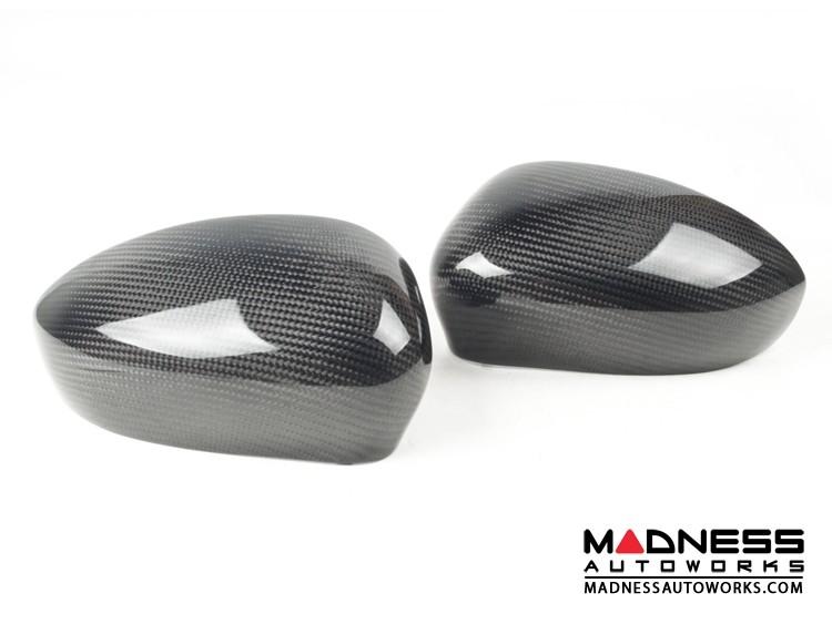 Alfa Romeo 4C Mirror Covers - Carbon Fiber - Full Replacements - MADNESS