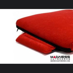 Seat Cushion - Red w/ Alfa Romeo Logo in Black