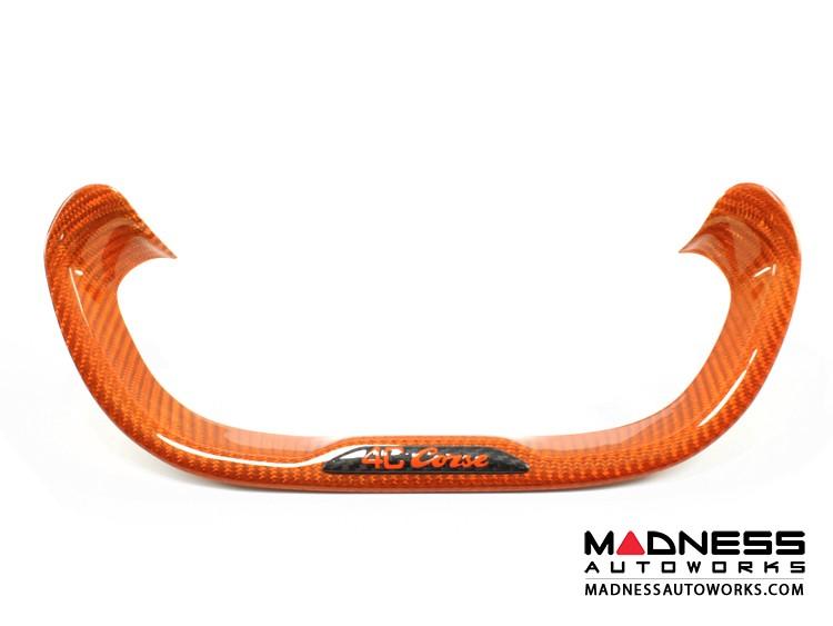 Alfa Romeo 4C Carbon Fiber Steering Wheel Lower Trim Piece - Orange