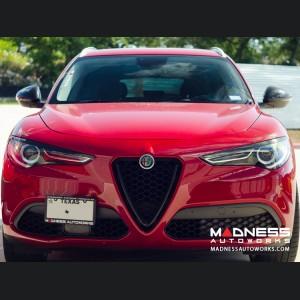 Alfa Romeo Stelvio Headlight Trim Kit - Carbon Fiber