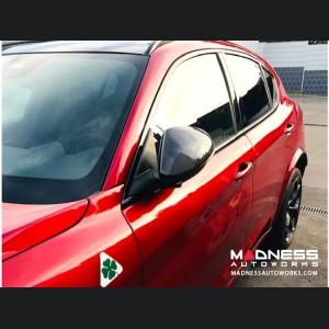 Alfa Romeo Stelvio Mirror Covers - 100% Genuine Carbon Fiber