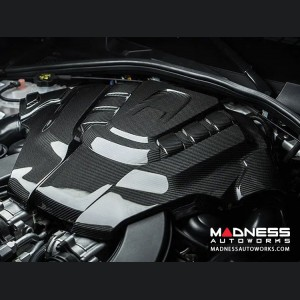 Alfa Romeo Stelvio Engine Cover - Carbon Fiber - Quadrifoglio Version