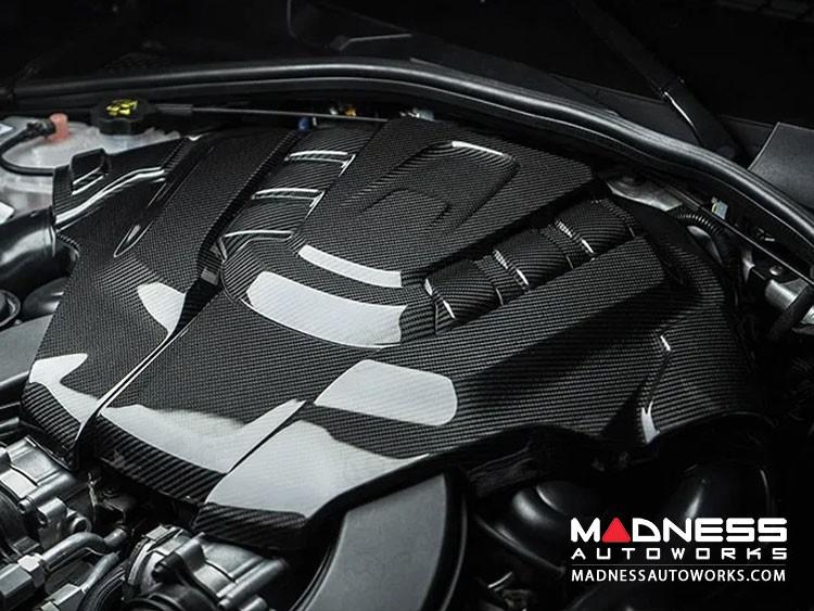 Alfa Romeo Stelvio Engine Cover - Carbon Fiber - Quadrifoglio Version