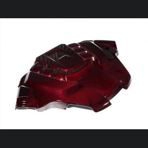 Alfa Romeo Stelvio Engine Cover - Carbon Fiber - Quadrifoglio - Red Candy