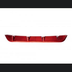 Alfa Romeo Stelvio Rear Diffuser - Carbon Fiber - Quadrifoglio Model - Red Candy